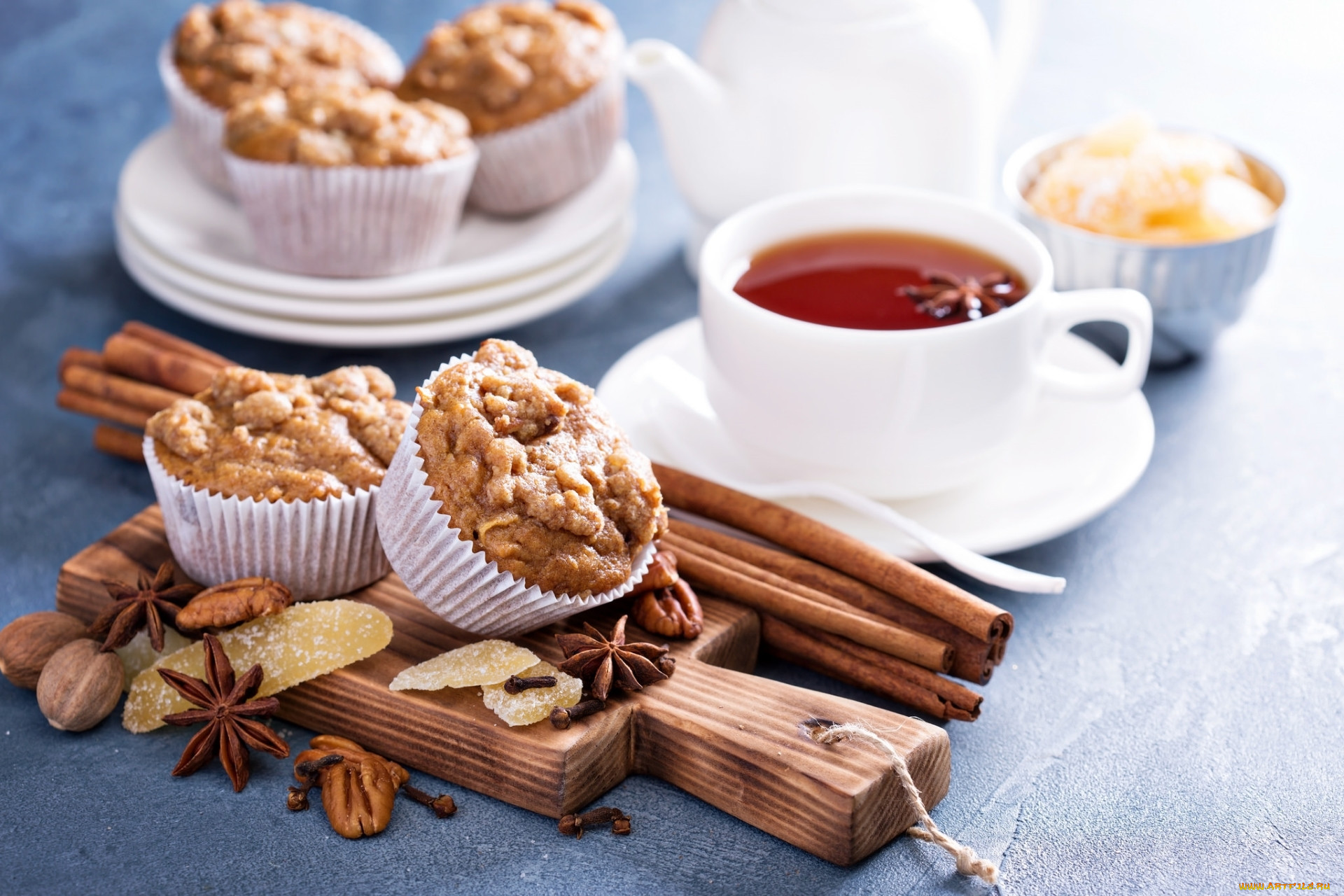 красивая картинка с чаем и печеньки тогда